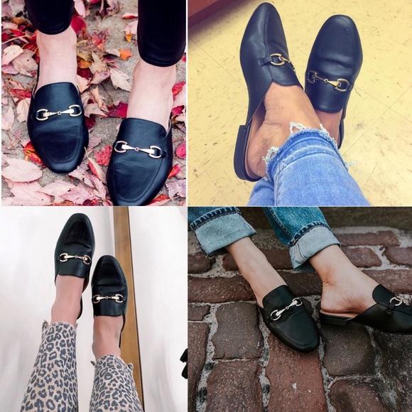 Merona Shoes | Black Mule Loafers